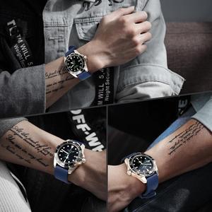 Image 5 - MAIKES Fashion Watchband 20mm 22mm 24mm Fluoro Rubber Watch Band Watch Accessories Watch Strap For Huawei GT Seiko Citizen Watch