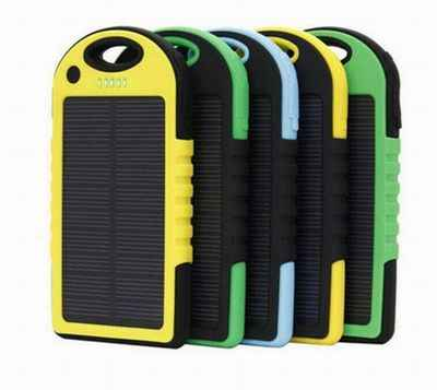 Cncool Waterproof Solar Replacement Batteries for Phones Real 20,000 mAh Dual USB External Polymer Battery Charger Outdoor Ligh