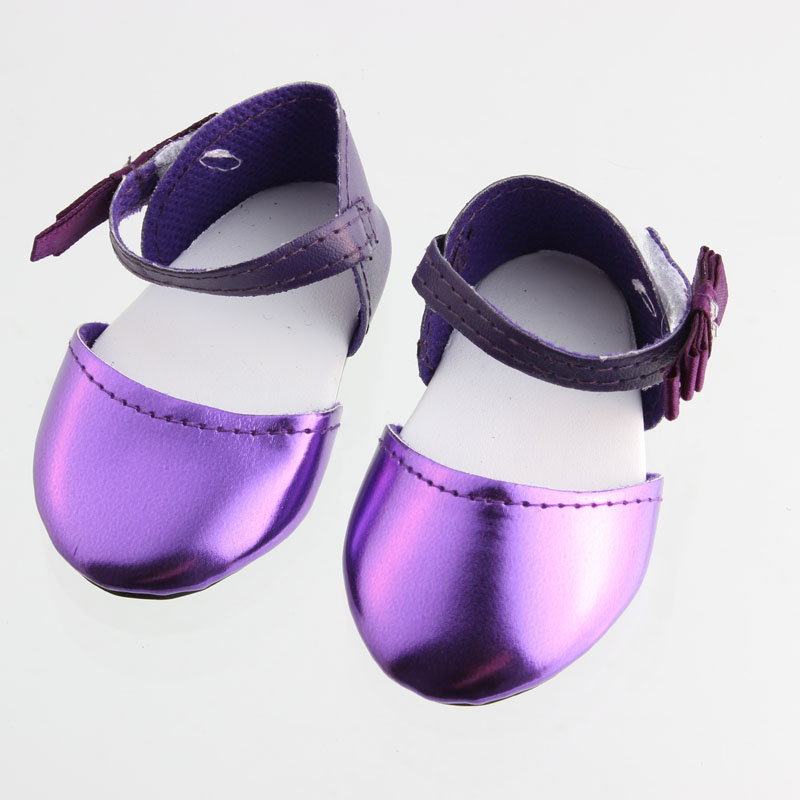 New Hotsell Handmade Fashion Shoes Purple Ballet Shoes For 18 Inch American girl doll Boots Shoes DC89