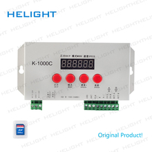 K 1000C(T 1000S actualizado) controlador de programa 2048 píxeles para APA102/SK6812/WS2812B/WS2813/SK9822 DC5 ~ 24V IC tira de luz de píxel