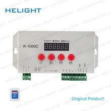 K 1000C(T 1000S güncellendi) program kontrolörü 2048 piksel APA102/SK6812/WS2812B/WS2813/SK9822 DC5 ~ 24V IC şerit piksel ışık