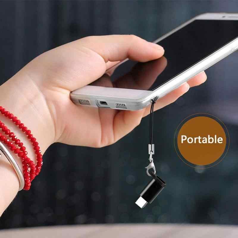 מיקרו USB אנדרואיד transtype-c נתונים כבל נייד אנטי לזרוק נייד מחבר מפתח fob עם שרוך המרת מתאם טעינה
