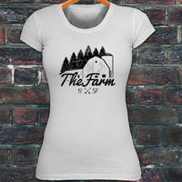 Japanese Harajuku T Shrit Farm Barn Farming Agriculture Nature Horse Ranch Womens White T Shirt