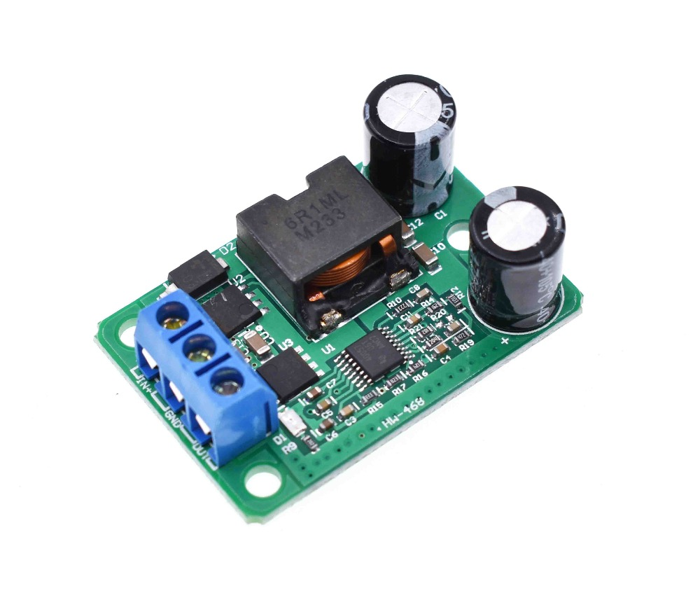 DC - DC step-down module 24 v / <font><b>12</b></font> v to <font><b>5</b></font> v / <font><b>5</b></font> a power supply (9-35 v) replacement IN 055 l super LM2596S image