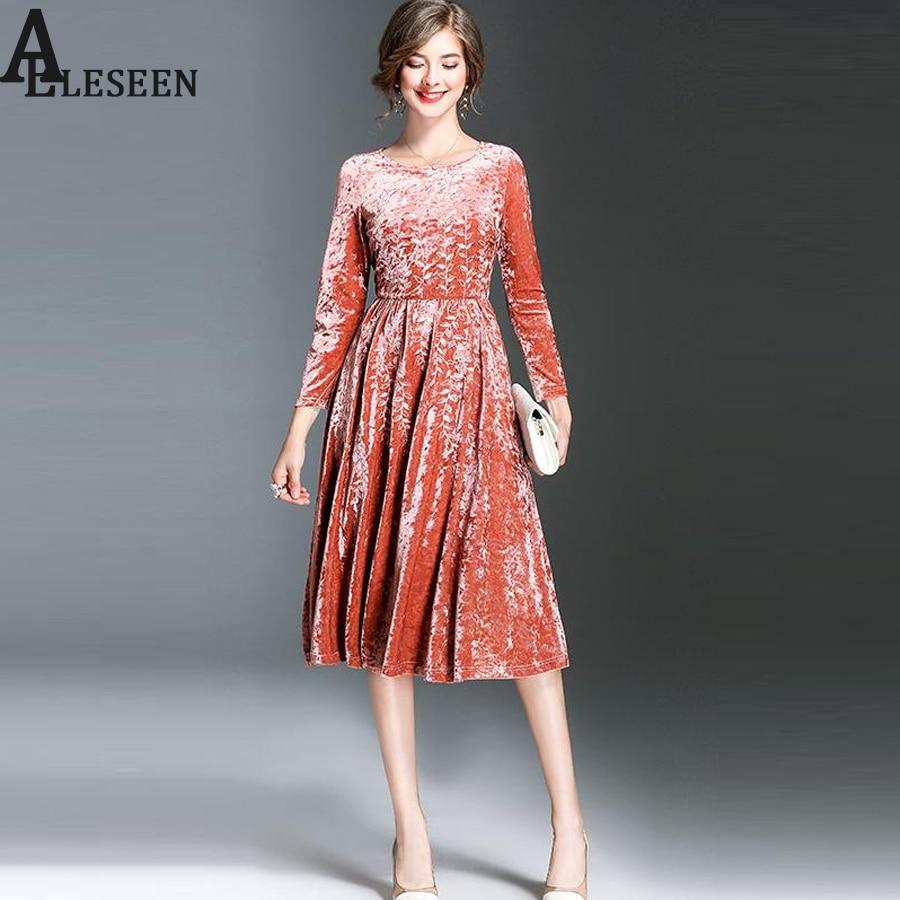 Vintage designer velvet dresses high quality long sleeve for High couture dresses