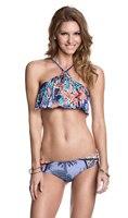 2018 neue Sexy Push Up Bikini Set Low Waist Bademode Volant Fringe Badeanzug Floral Beachwear Brasilianischen Badeanzüge Biquini