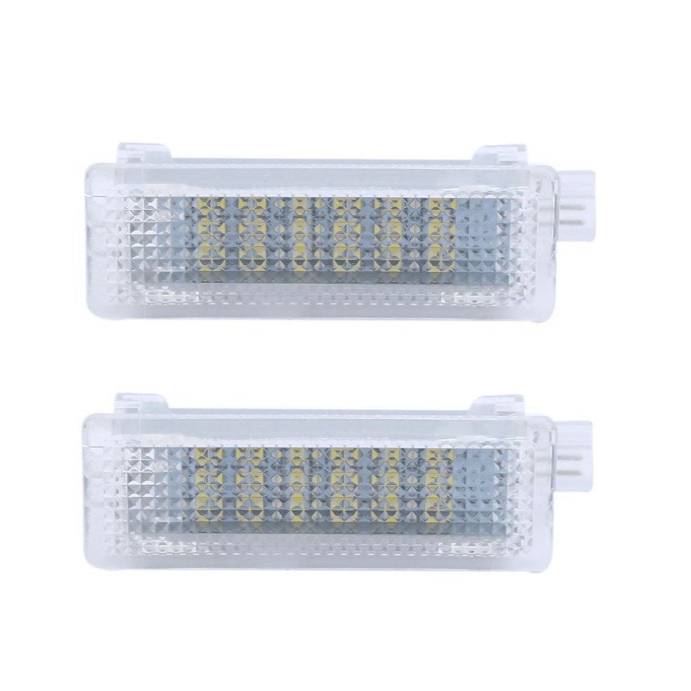 ICOCO 18LED SMD3528 Car LED License Plate Lights For BMW E81 E82 E87 E88 Canbus Error Free 12V 200mA SMD3528 Door Light Lamp 4pcs super bright t10 w5w 194 168 2825 6 smd 3030 white led canbus error free bulbs for car license plate lights white 12v
