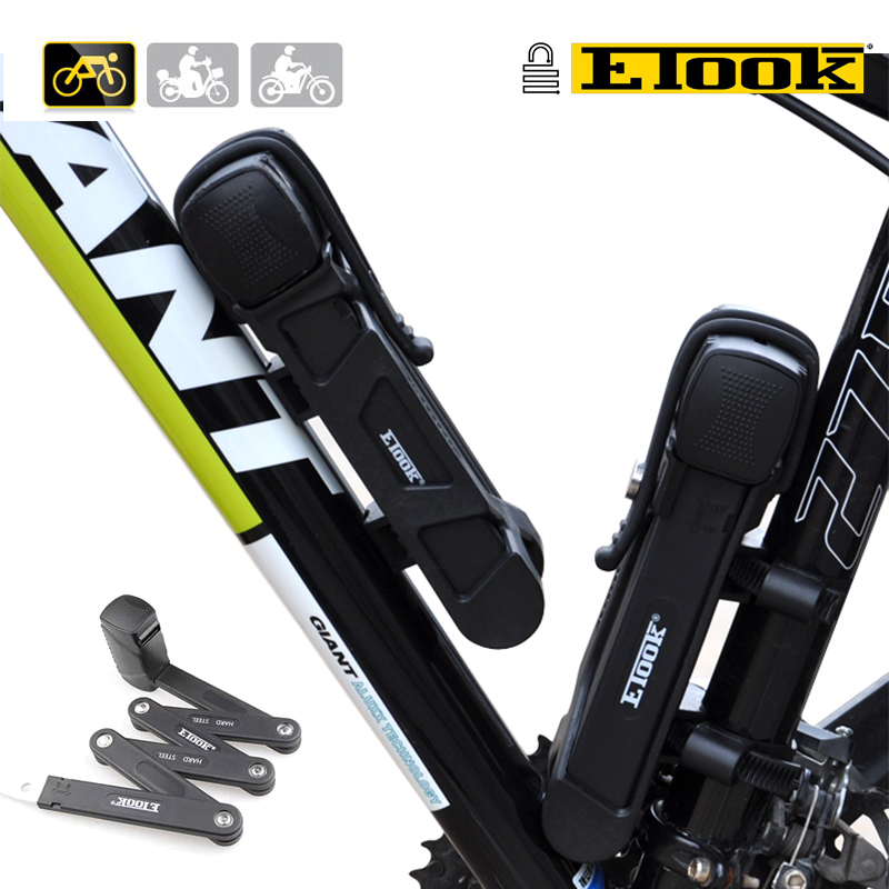 ETOOK Security Level-5 Professional Bike Anti-theft Lock Super Strong Patent Lock Steel Foldable Cycle Lock With Special Key free shipping s625 2rs cb stainless steel 440c hybrid ceramic deep groove ball bearing 5x16x5mm