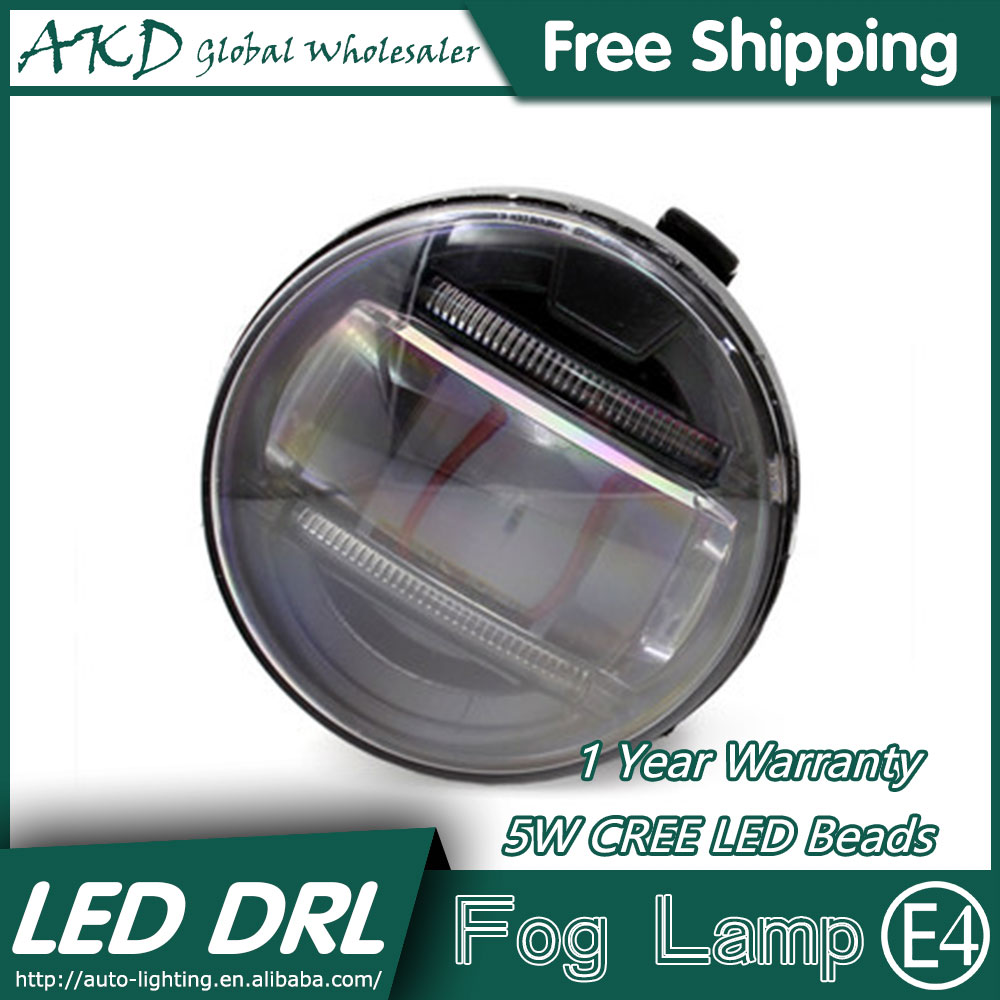 AKD Car Styling LED Fog Lamp for Nissan Tourle DRL2008-2015 LED Daytime Running Light Fog Light Parking Signal Accessories akd car styling led drl for kia k2 2012 2014 new rio eye brow light led external lamp signal parking accessories