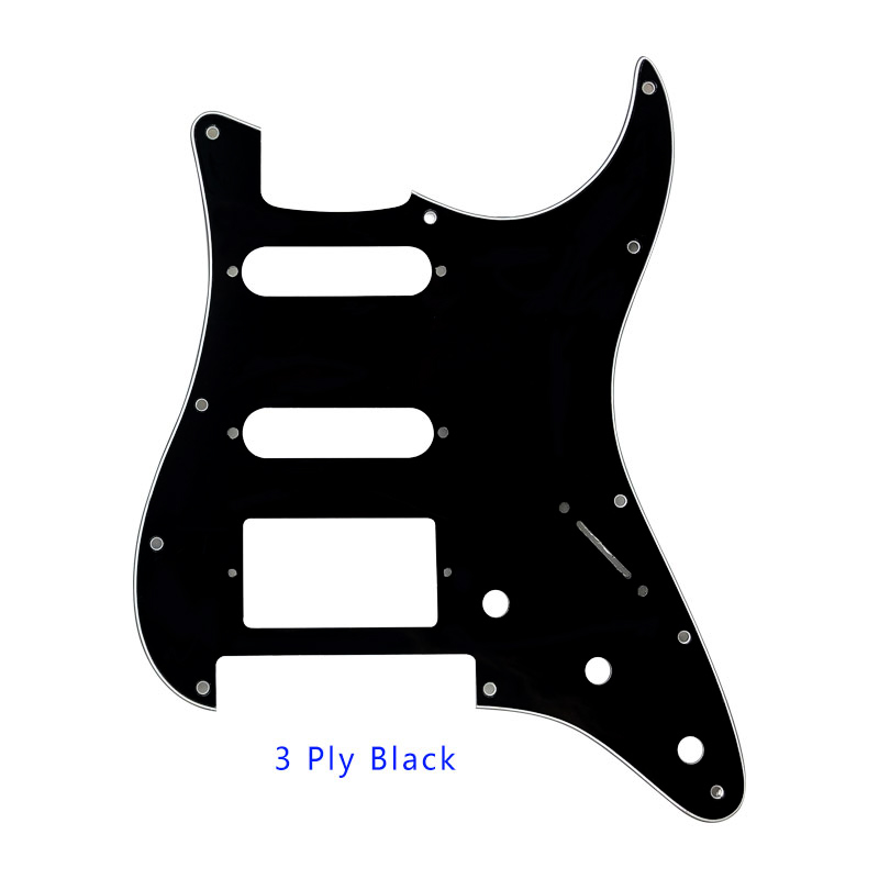 Stratocaster Strat pickguard scratchplate 3 ply lots of colours HSH HH SSS HSS
