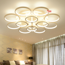 sitting room lamp dimming 2017 + Remote control living study room bedroom modern led chandelier white color surface mounted кашпо ø17 см blompot