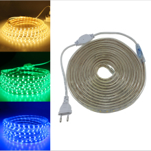 Super bright 5050 AC 220V led strip flexible light 1M 2M 3M 4M 5M 10M 15M