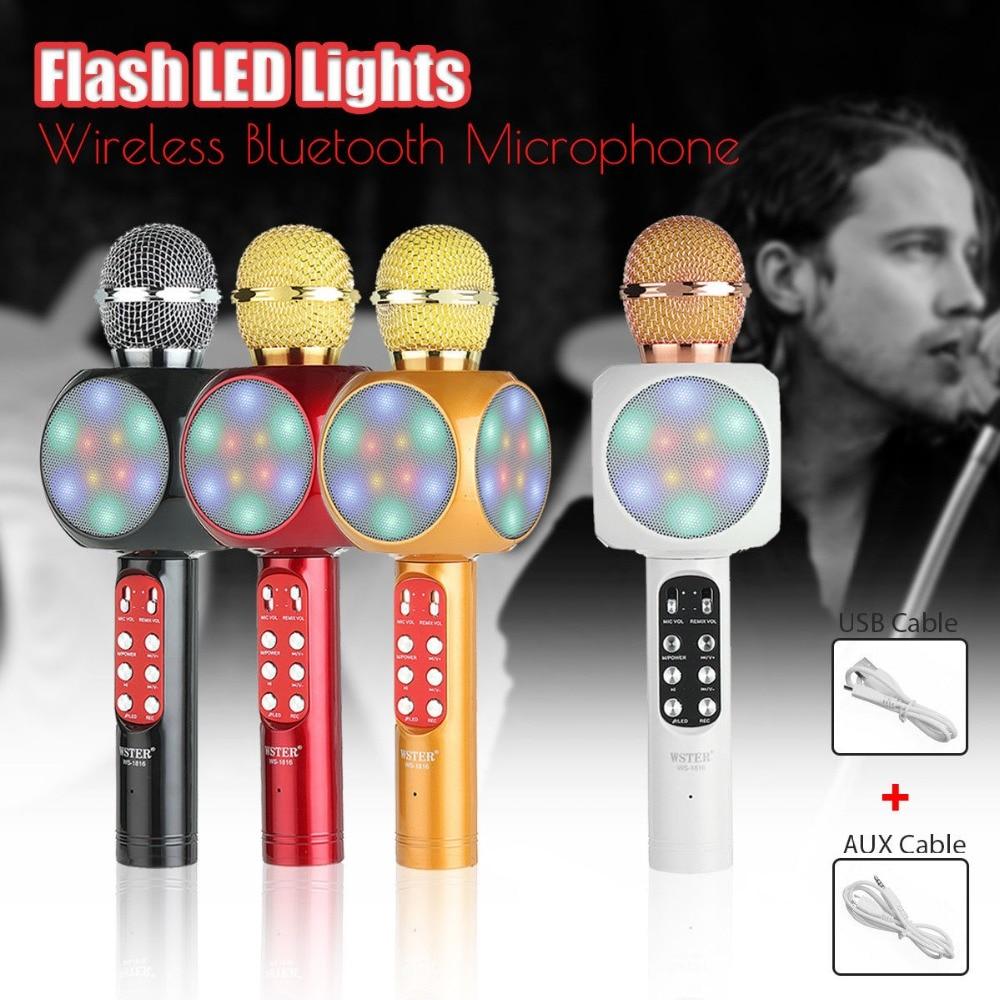 WS 1816 Wireless Bluetooth Karaoke Microphone Mic USB Speaker Home KTV  Party free shipping| | - AliExpress