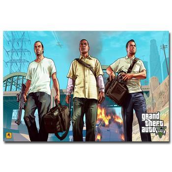 Шелковый Плакат Гобелен Grand Theft Auto V Вариант 9