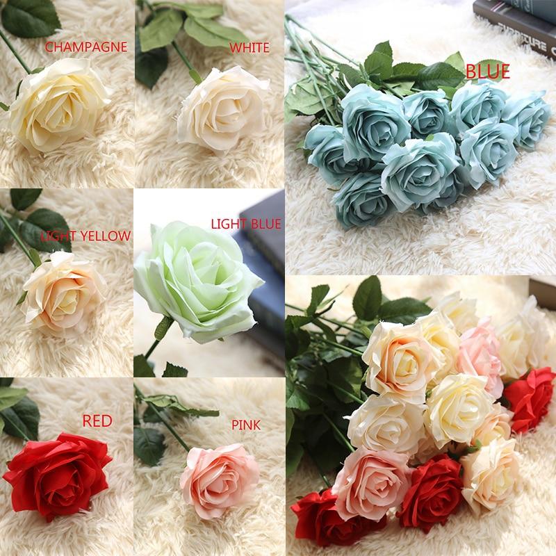 1 st konstgjorda blommor för nålverk Fake Flowers Roses - Semester och fester