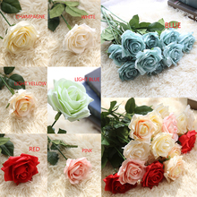 1 pcs artificial flowers for needlework Fake Flowers Roses Wedding decoration Bouquet bloemen plant 30off