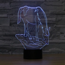 3D Lovely Horse LED Night Light 7 Color Dimming illusion Bedroom Lamp Holiday Light Child Kids Toys For Party lynette eason holiday illusion