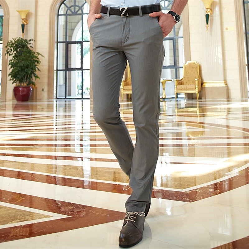 2015 Business Dress Mens Pants Formal Beige Wedding Trousers For Men