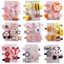Get more info on the 2019 high quality 5Pcs Kids Infant Hairpin Baby Girl Cartoon animal motifs Hair Clip Set Cute Hairpin Womens Hair Clip      5.24