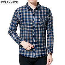 R.N.J. Brand Classic Old school Plaid Shirts Mens Clothes 2018 Long Sleeve Mens Dress Shirts Casual Slim fit Men Social Shirt dress shirt men slim fit style boys casual shirt mens long sleeve grid stripe cotton classic designer brand hawaiian clothes