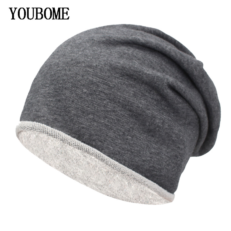 YOUBOME   Skullies     Beanies   Winter Hats For Men Knitted Hat Women Baggy Mask Soft Winter   Beanie   Gorros Bonnet Warm Male Hat Caps