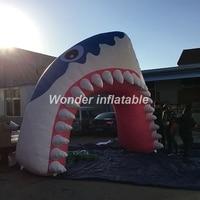 Пользовательские гигантские надувные Акула арки Надувные Акула туннеля глава арки шар для rave Вечерние