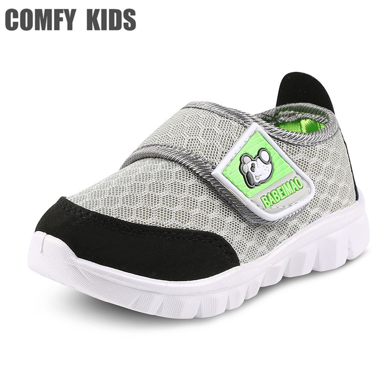 Autumn New hook & loop mesh fabric breathable baby sneakers shoes size 19-30 baby girls toddlers shoes boys sports sneakers air mesh breathable hook