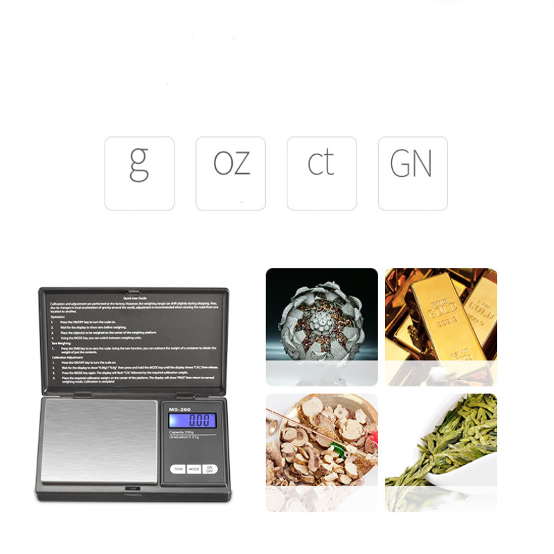 Mini Digital Scale High Accuracy 100/200/300/500/1000g 0.01/0.1g Backlight Electric Pocket Gram for Lightweight Jewelry
