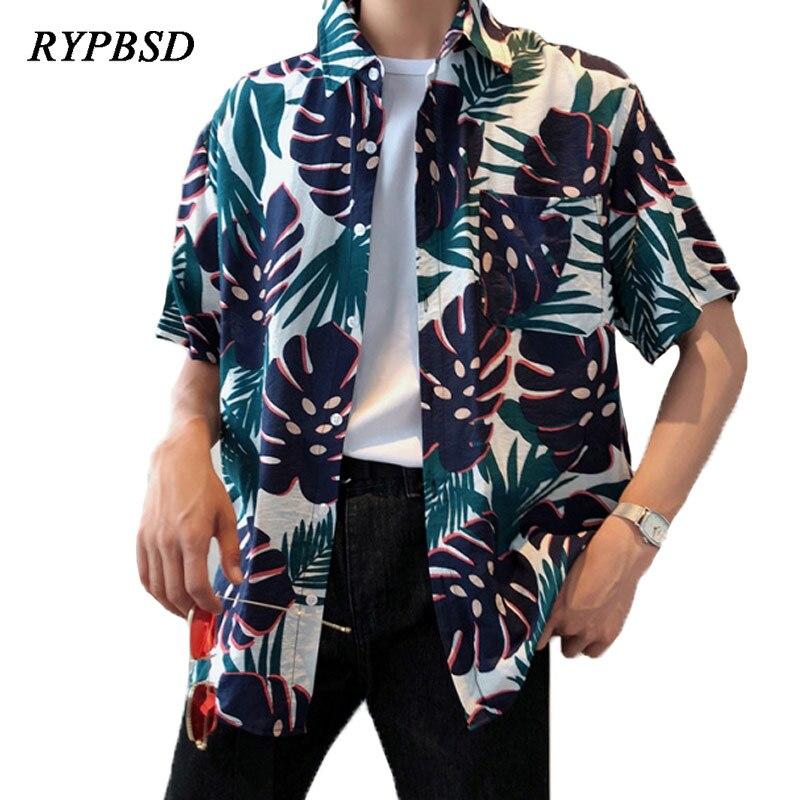 Camisa Hawaiana Hombre Printing Loose Fashion Casual Hawaiian Shirt Men Short Sleeve Bea ...