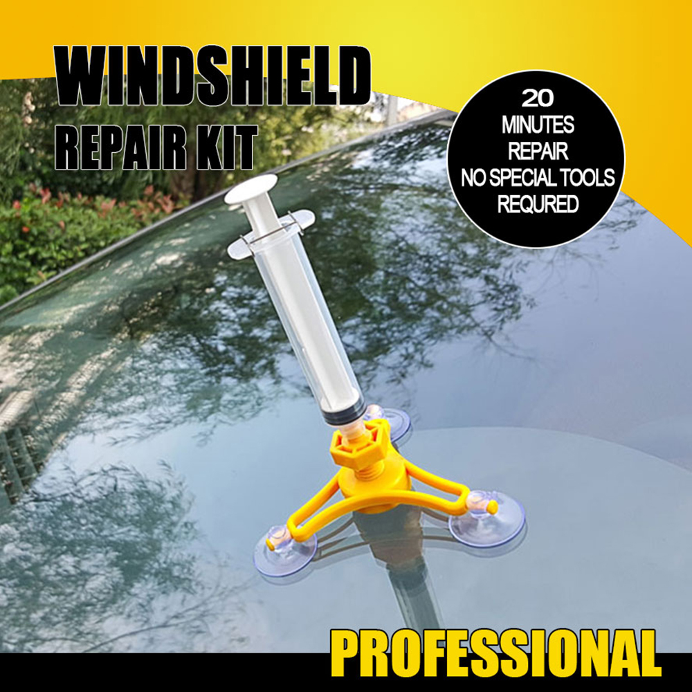 DIYWORK DIY Car Glass Repair Tool Auto Maintenance Sets Windshield Repair Kit Car-Styling