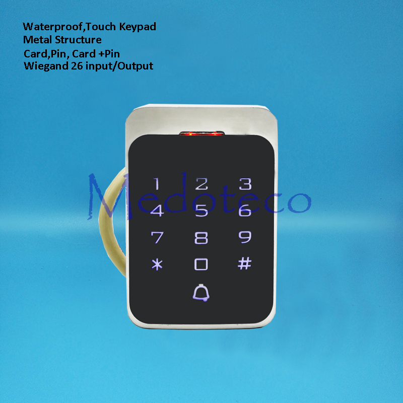 Silver Metal Waterproof Access Controller Touch Keypad RFID Door Access Control System Digital Lock For 2000 Users digital electric best rfid hotel electronic door lock for flat apartment