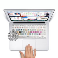 For Apple Final Cut Pro X Shortcut Keys Silicone Soft Keyboard Cover Skin Sticker For Apple