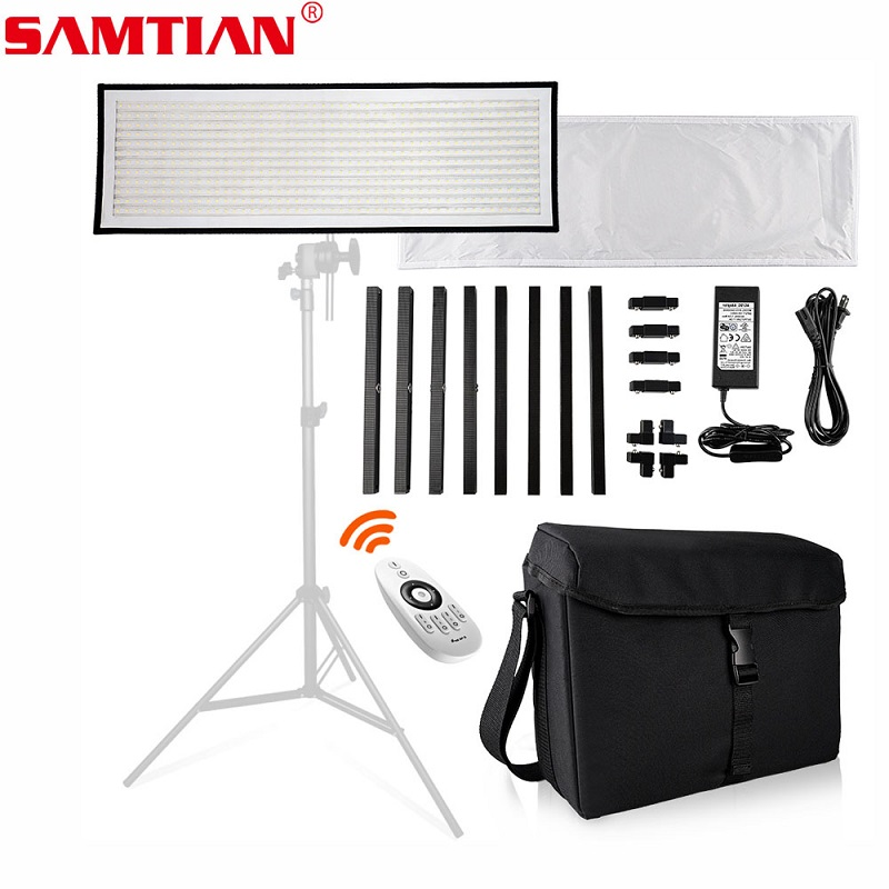 SAMTIAN FL-1x3 Flessibile LED Video Luce 30*90 cm 576 LED 5500 k Photo Studio Lampada di Illuminazione Fotografica Per youtube Vlog Sparare
