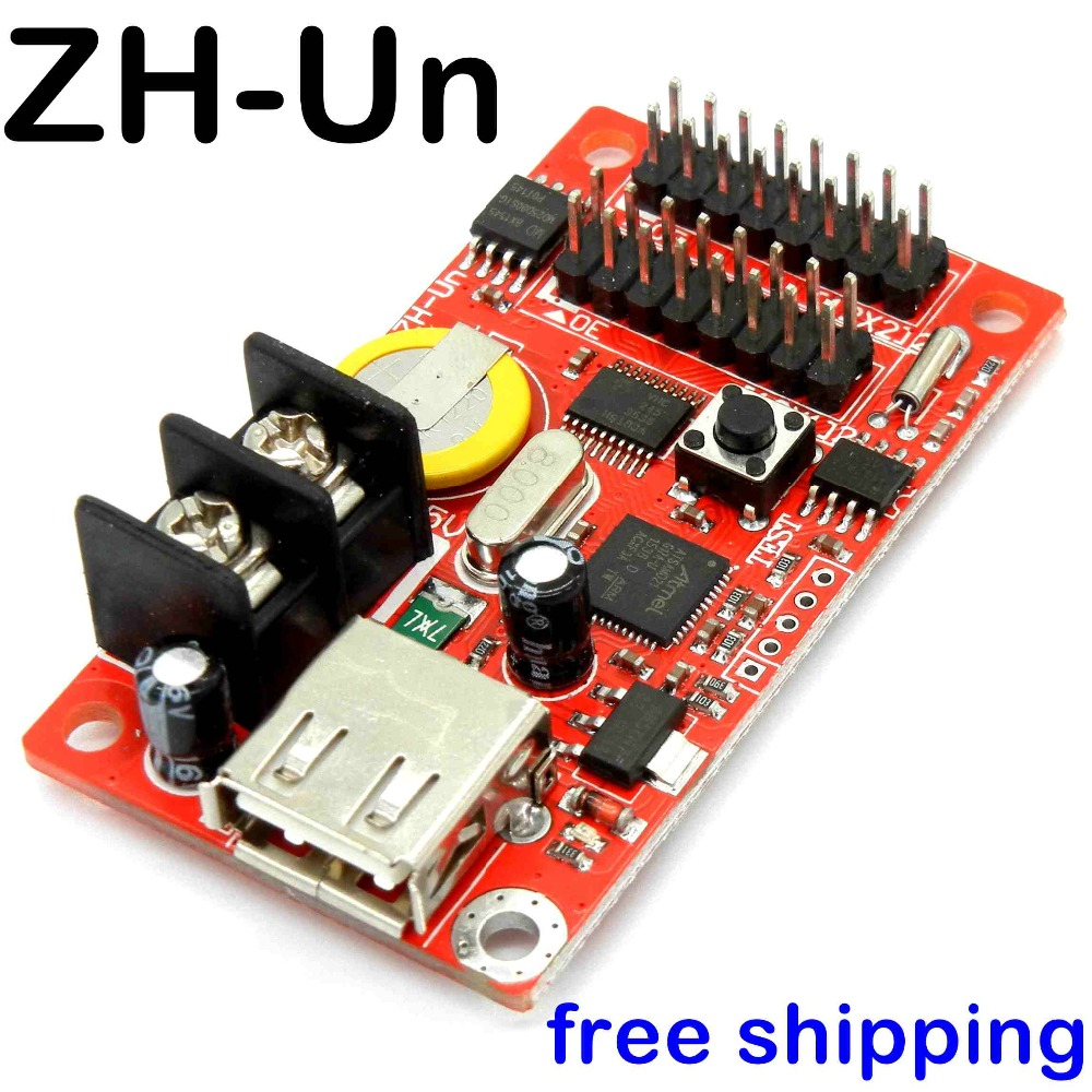 Free ship ZH-Un USB led control card 320*32 pixels U disk led controller for P10 advertising led text display panel drive board diy led display kit 1 pcs jn power supply dip outdoor rg color led display p10 1 pcs led control card 1 pcs controller