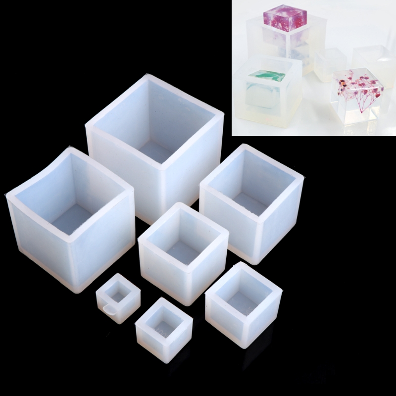 DIY Silicone Pendant Mold Jewelry Making Cube Resin Casting Mould Craft Tools