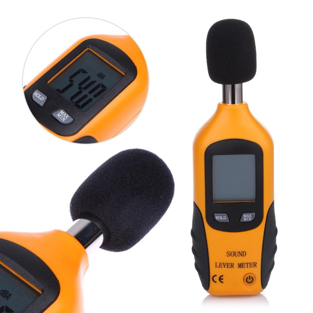 Portable Sound Level Meter LCD Digital Sound Pressure Tester Level Meter 35-130dB Decibel Noise Measurement nktech ut353bt sound level meter digital bluetooth noise meter tester 30 130db decibel monitoring sound level meters