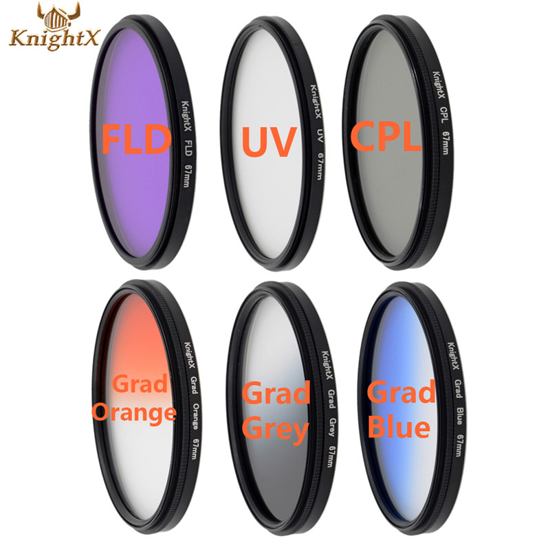 KnightX uv filter 58mm 67MM 72MM Graduated For canon lens 1200d for Sony Nikon D70 D80 D90 camera digital