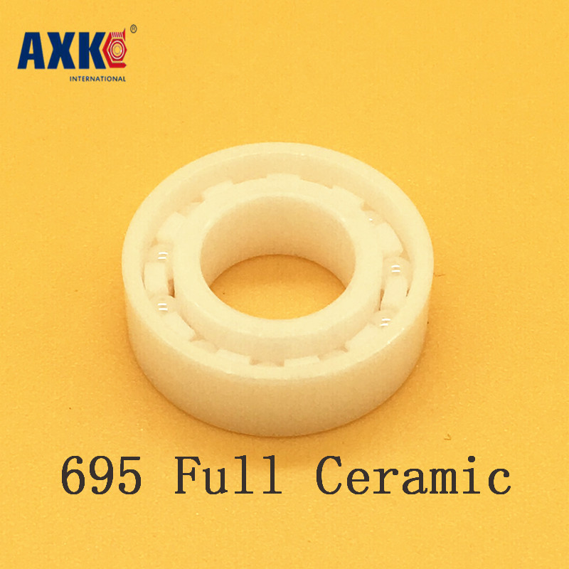 2018 Limited Rolamentos Axk 695 Full Ceramic Bearing ( 1 Pc ) 5*13*4 Mm Zro2 Material 695ce All Zirconia 619/5 Ball Bearings 697 full ceramic bearing 1 pc 7 17 5 mm zro2 material 697ce all zirconia ceramic 619 7 ball bearings