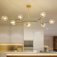 Vintage Loft Industrial nordic Chandelier For Dining Kitchen Stair Black/Gold Suspension luminaire modern chandelier lighting