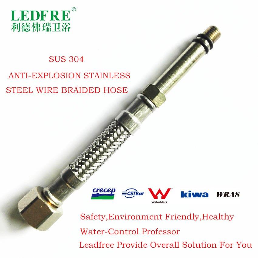 LF15316B-13CM M15x1 * M10x1 cocina EPDM tubo de acero inoxidable 304 trenzado manguera flexible plomería tubería de suministro de agua del grifo