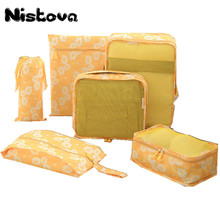 6Pcs/set Durable Unisex Travel Bag Packing Cubes Set Organizer Luggage Bags Large Capacity Hand Clothing Sorting Organize