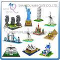 Mini Qute WTOYW LOZ World architecture Eiffel torre del molino de viento esfinge diamante bloque de construcción de plástico escala modelo educativo del juguete