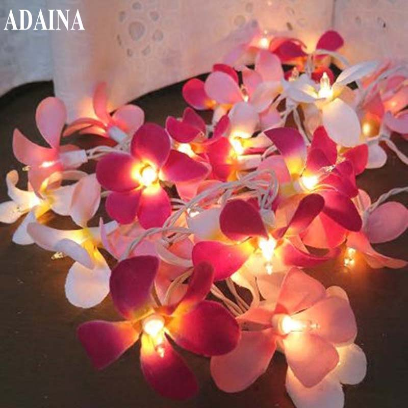 20/35pcs Warm White Led String Christmas Fairy Lights Battery Operated Luminaria Creative Manual Small Flowers Led Lighting Agreeable Sweetness Lighting Strings