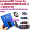 Gênio G540 USB Universal Bios GAL Programador EPROM FLASH 51 AVR apoio MCU SPI + 6000 fichas 24/25/93 Cxx + 4 pcs adaptadores