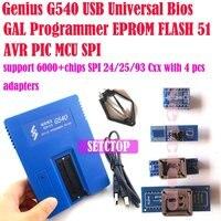 USB G540 הגאון האוניברסלי Bios GAL מתכנת EPROM FLASH 51 AVR PIC MCU SPI תמיכה 6000 + שבבי 24/25/93 Cxx + 4 יחידות מתאמים
