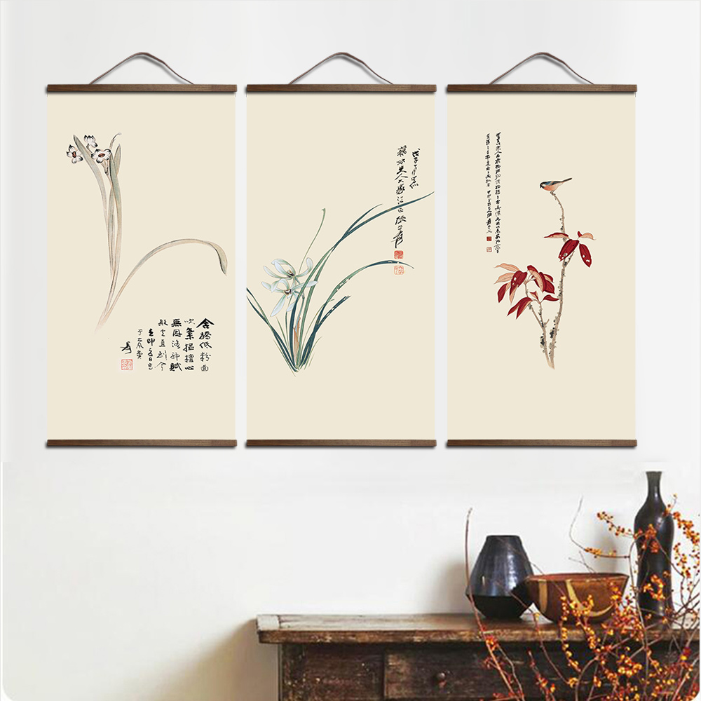 HTB1TQ2DXh rK1RkHFqDq6yJAFXaX your picture favorite photo family baby canvas painting poster and custom print art with solid wood hanging scrolls