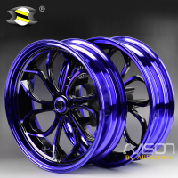 For Yamaha NMAX155 NMAX 155 NMAX125 Motorcycle Wheel Rims Front Rear Wheel Rim Set Aluminum Alloy Blue