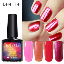 New Arrival Manicure Tool BELLE FILLE Fashion Color UV Nail GelTop & Base Coat Soak-off Gel Nails Polish Any 1 Color