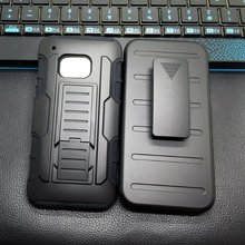 Shockproof Belt Clip Holster Shell Armor Cover Hard Case For HTC One M9 Heavy Duty Mobile Phone Cases