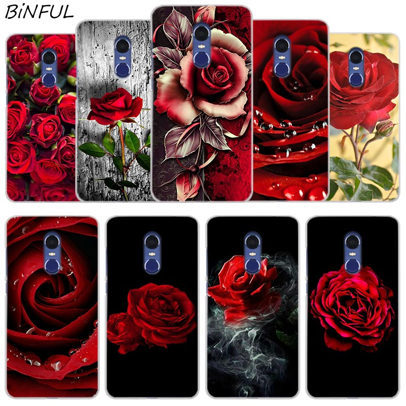 Red Rose Flowers HD Wallpaper Cover Case For Xiaomi Redmi